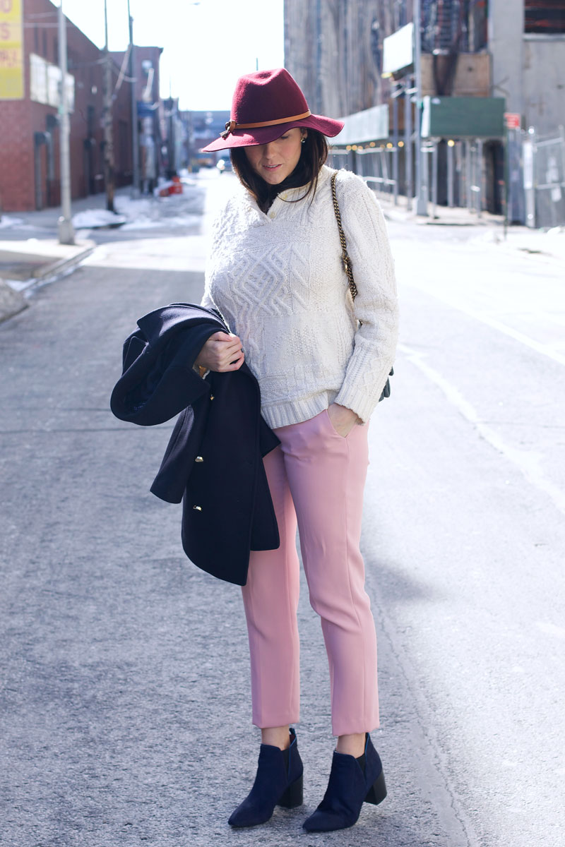 pink-Zara-pants-cable-knit-cream-sweater.jpg