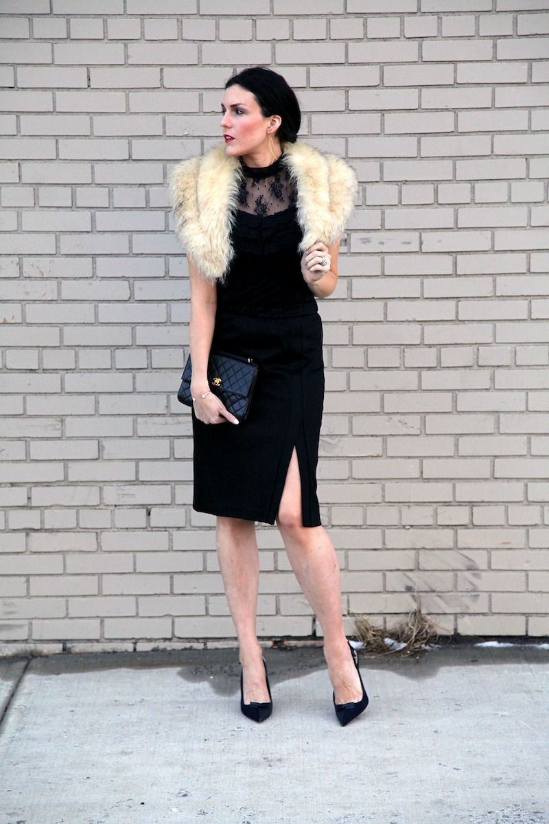 black-lcae-top-black-skirt-vintage-fur-stole-black-Chanel-Dior-shoes.jpg