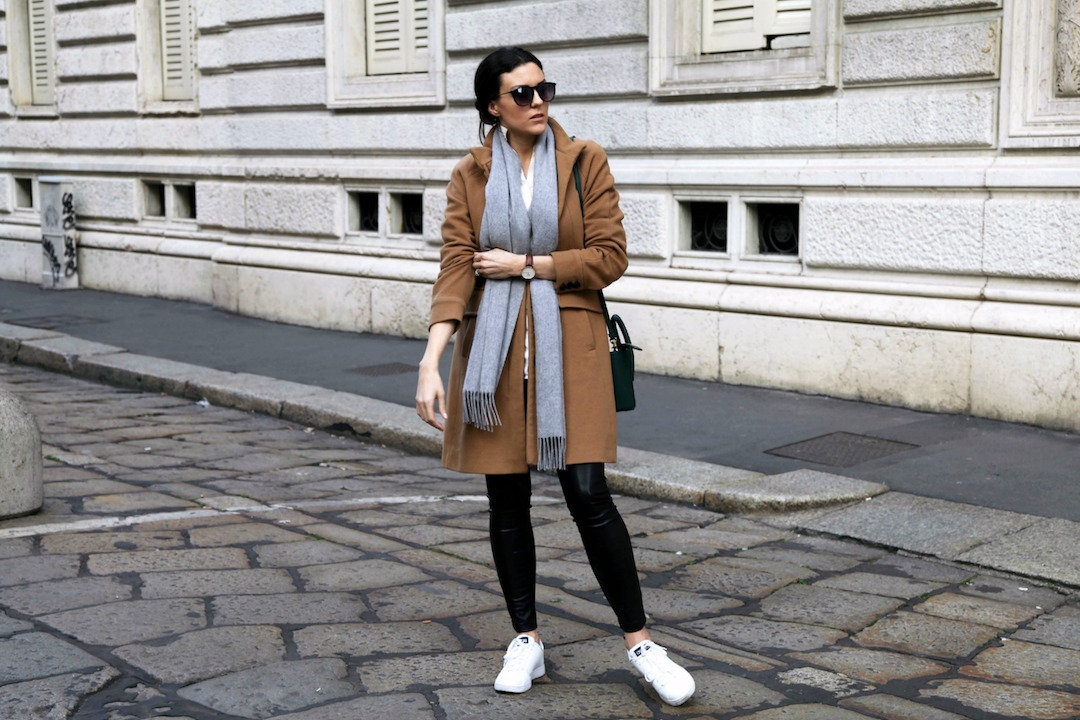 grey-scarf-camel-colored-coat-black-leather-pants-and-adidas-sneakers.jpg