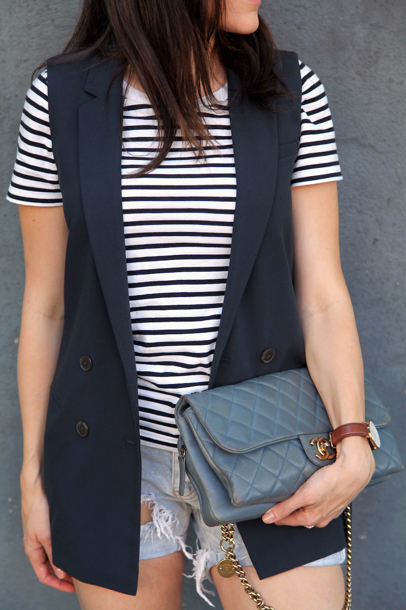 Banana-Republic-Vest-COS-shirt-One-teaspoon-shorts-Chanel-bag.jpg