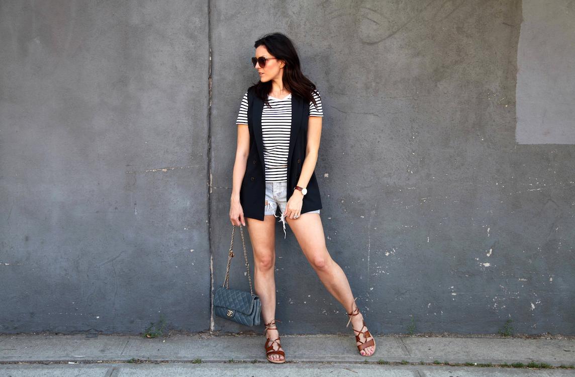 old-navy-sandals-Banana-Republic-Vest-COS-shirt-One-teaspoon-shorts-Chanel-bag.jpg