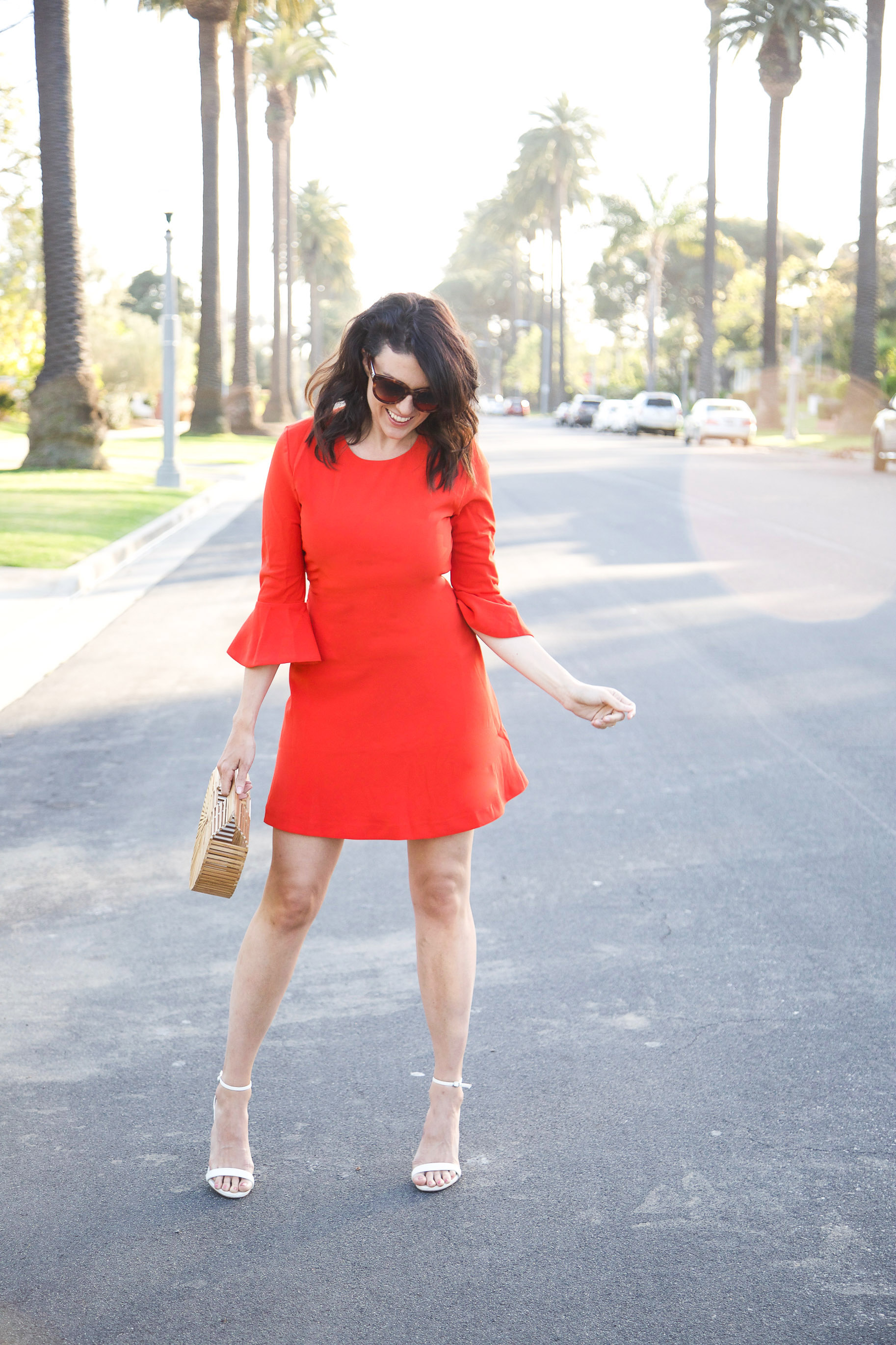 Lucy-Paris-Red-Bell-Sleeved-Dress1.jpg