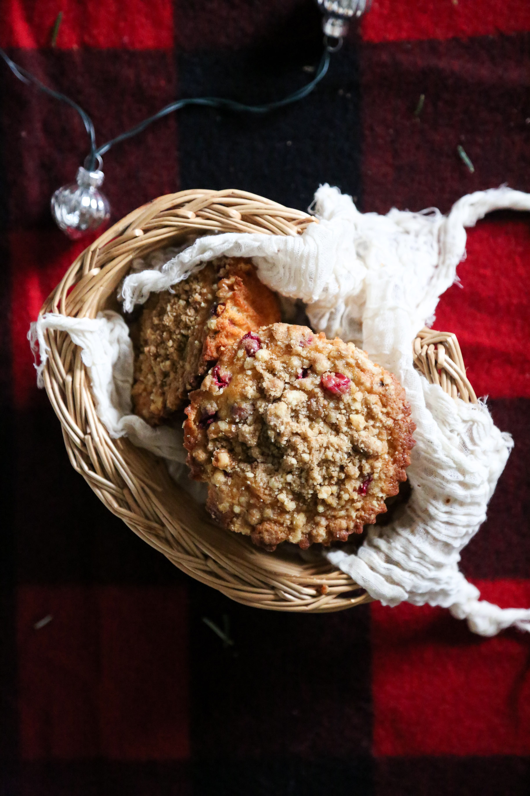 CRANBERRY OLIVE OIL MUFFINS WITH WALNUT CRUMB TOPPING - yields 6 large muffins or 12 regular muffins