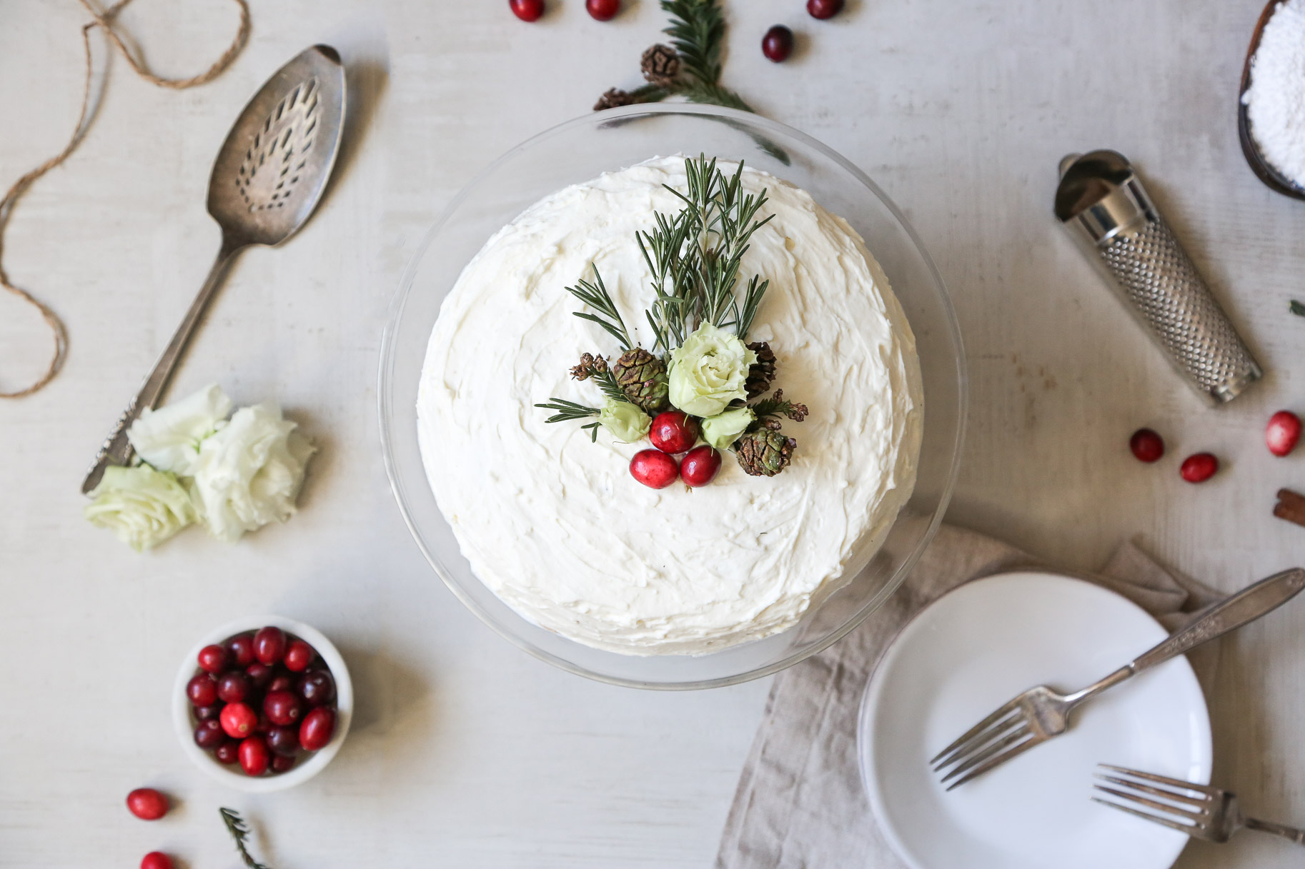 CRANBERRY CREPE CAKE - serves 8-10