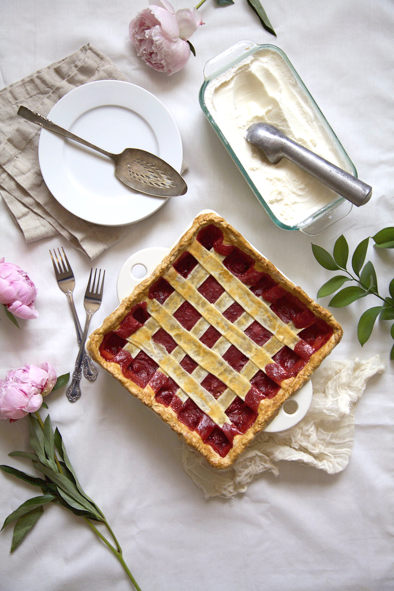 STRAWBERRY RHUBARB PIE -