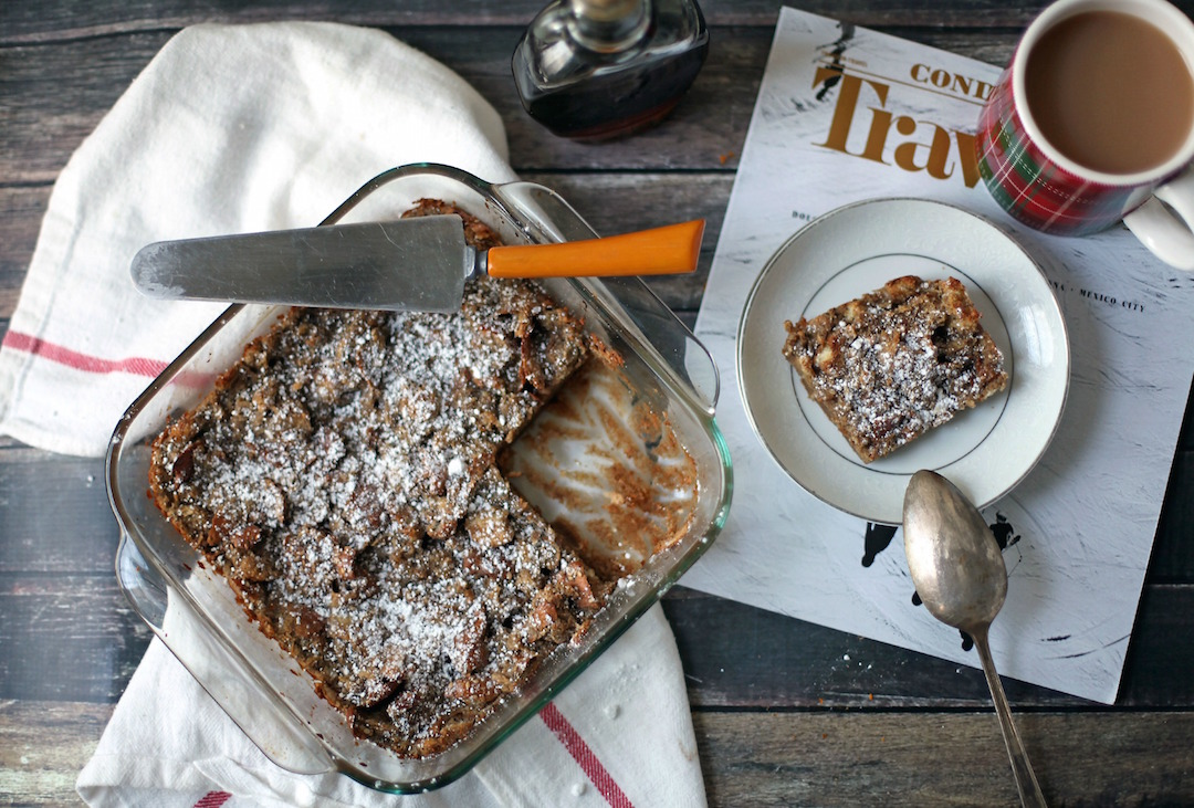 GINGERBREAD FRENCH TOAST CASSEROLE -