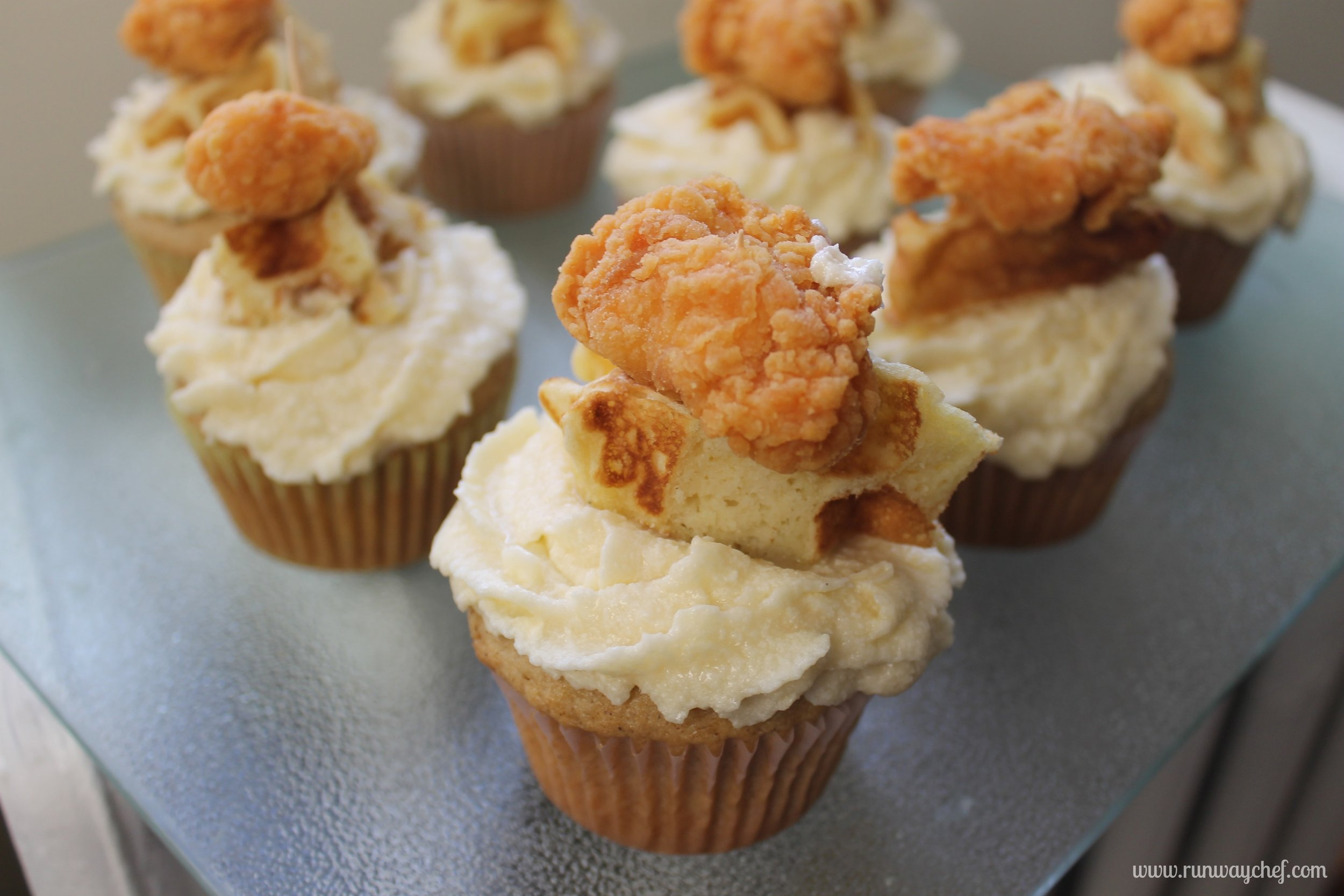 Chicken 'N Waffles Cupcakes - yields 9