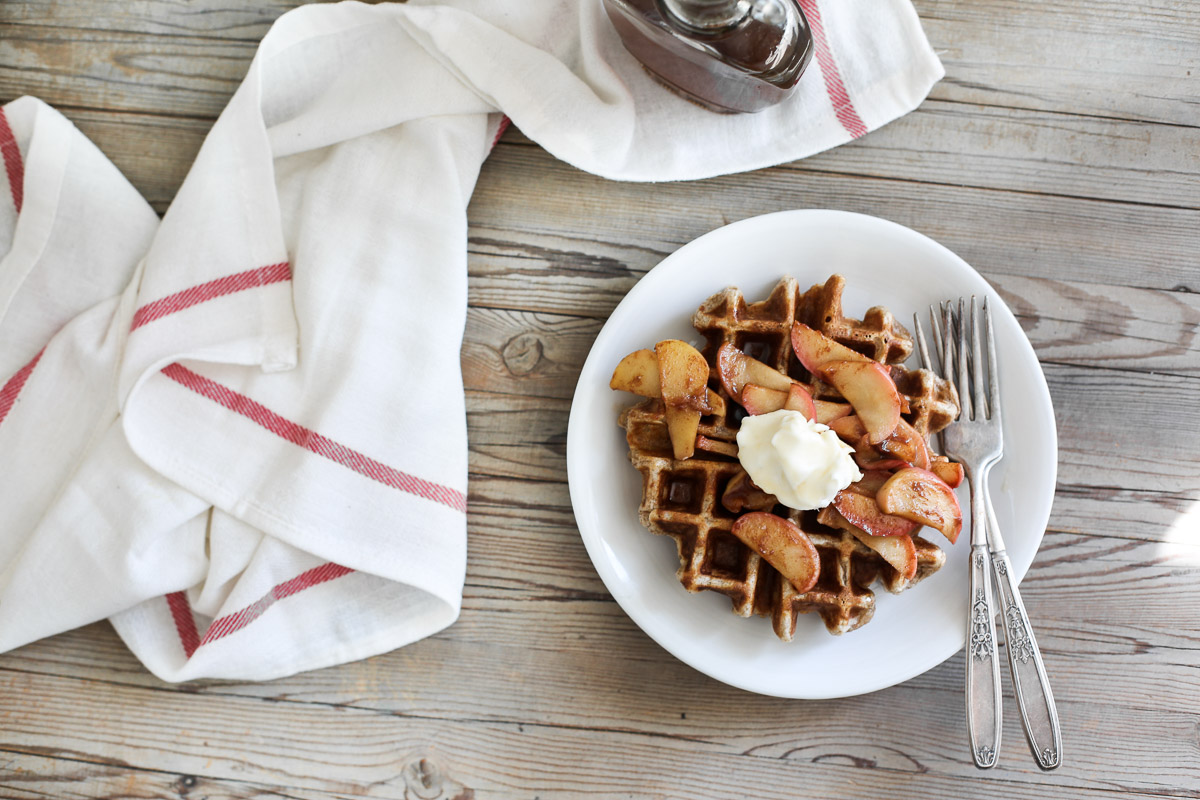 spiced waffles with bourbon syrup2.jpg