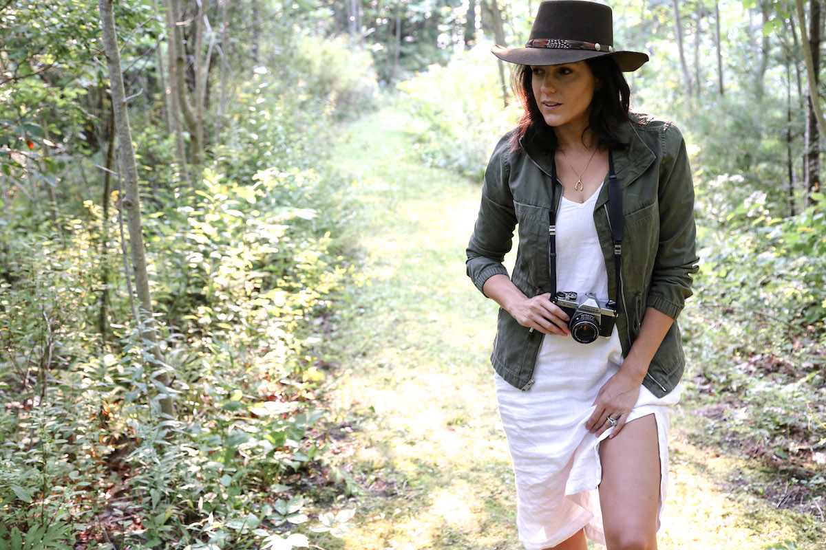 white linen dress + green jacket6.jpg