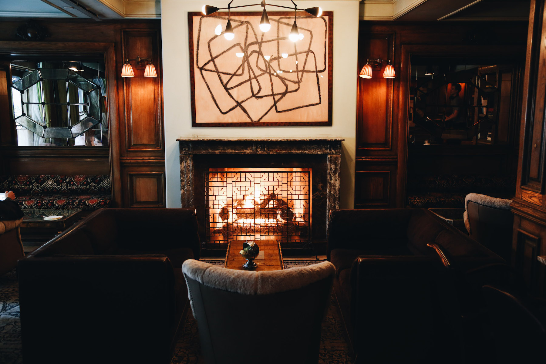 - If you can't find me at home, in my neighborhood, or out and about exploring, there's good chance, you'll find me in the lobby of the Marlton Hotel. It's a great spot to work during the week or have a meeting, or even just stop to grab a drink with a friend. My favorite part is the fireplace, which is especially welcome on a cold winter day. Also, make sure to order your coffee or tea with their almond milk, which is made fresh in-house every day.