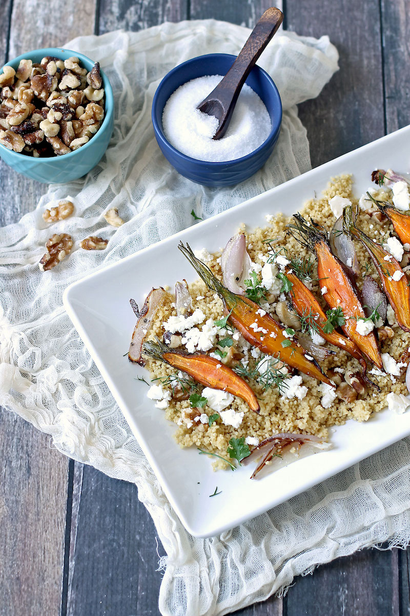 roasted carrots + couscous