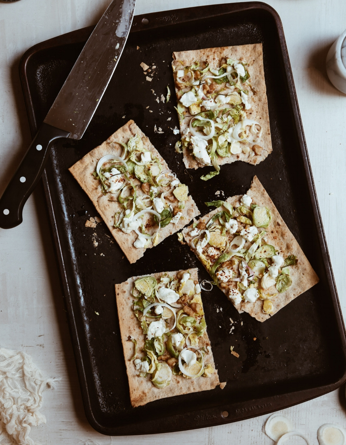 BRUSSELS SPROUTS FLATBREAD - serves 2