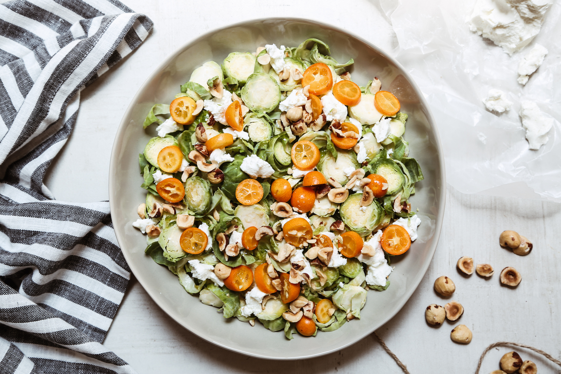 Brussels Sprouts + Kumquat Salad -