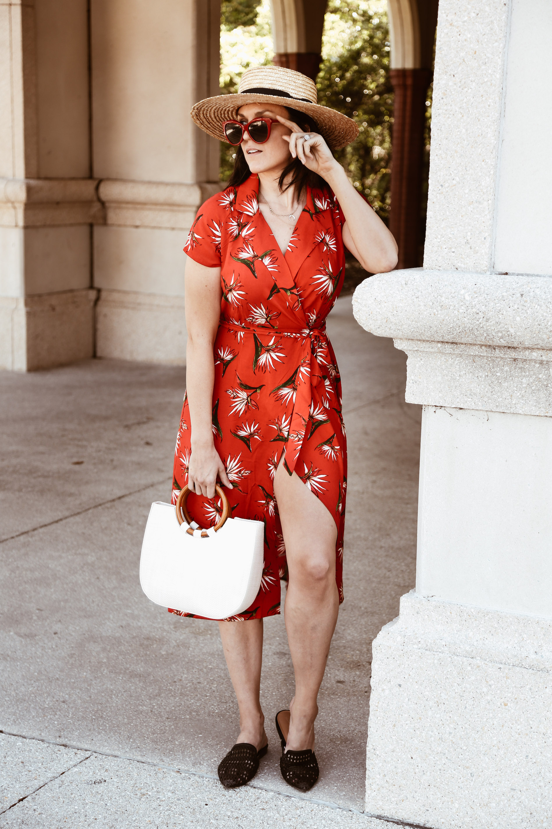 Red and tropical print Forever 21 summer dess1.jpg