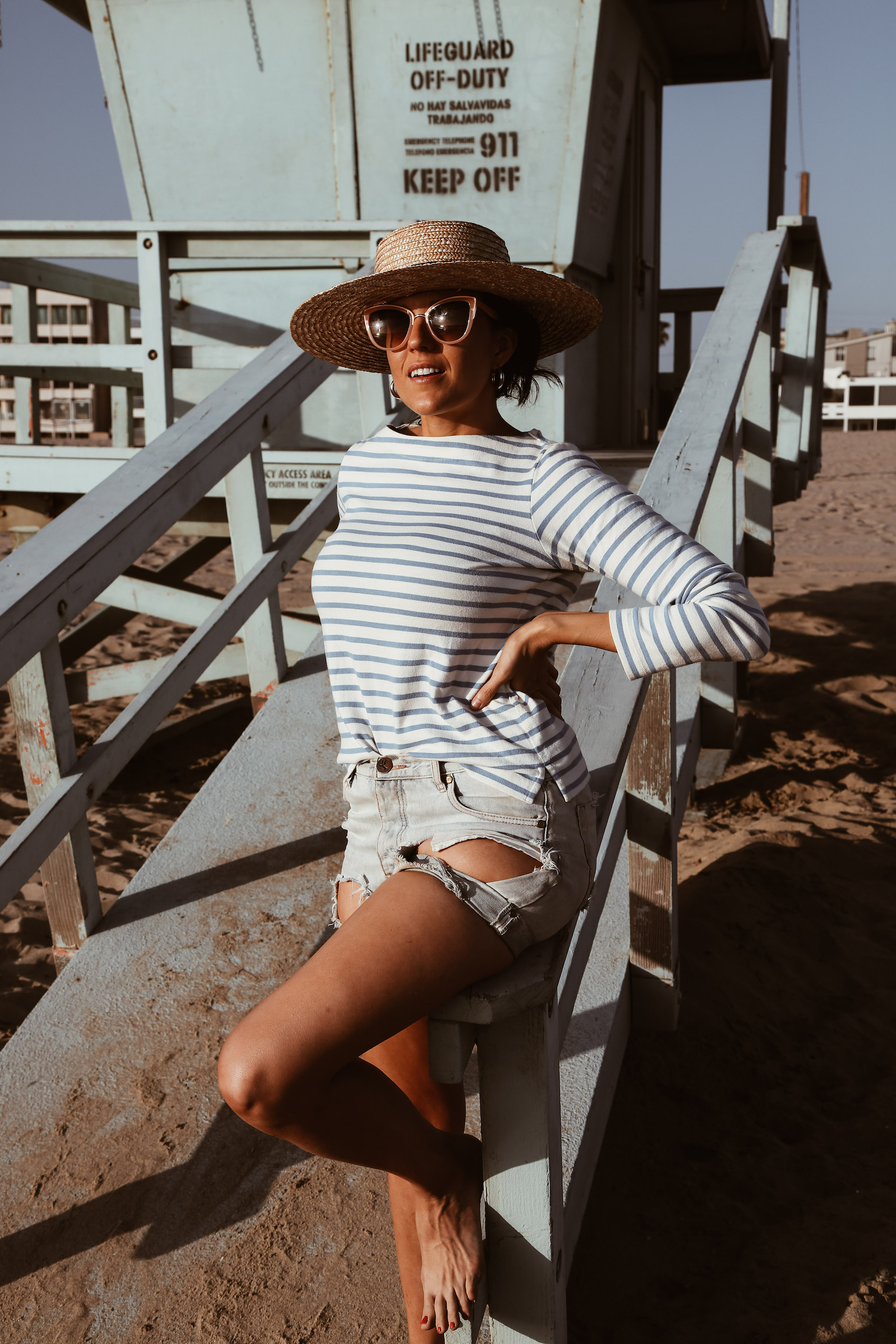 striped shirt and denim cut-offs-6.jpg