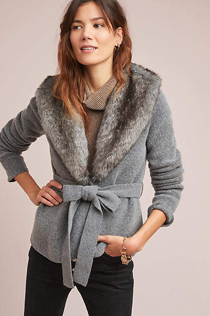 FANCY FAUX FUR - EVEN SWEATERS GET DRESSED UP SOMETIMES