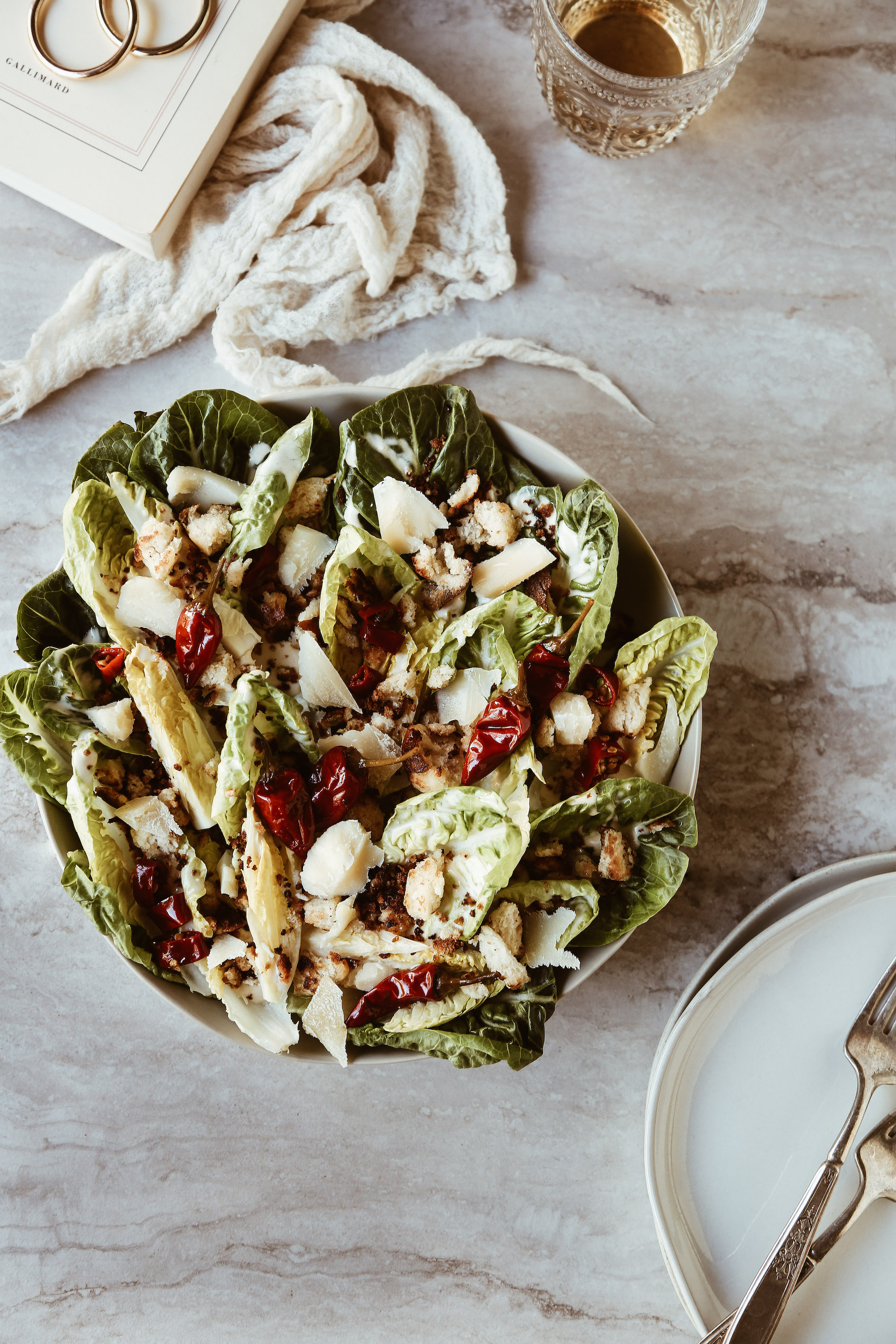 Little Gem Caesar Salad with Calabrian Chili Dressing + Pretzel Croutons-10.jpg