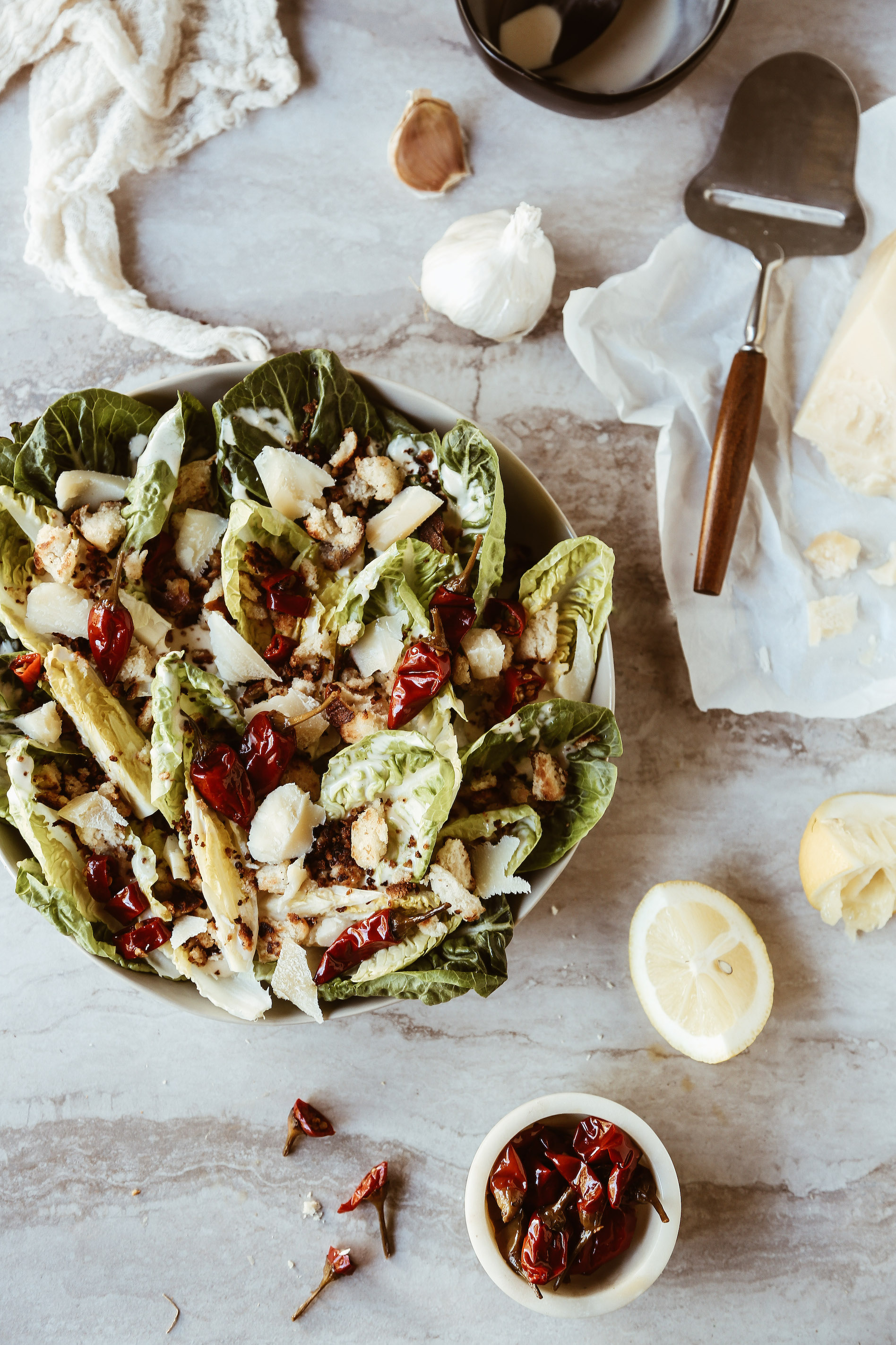 Little Gem Caesar Salad with Calabrian Chili Dressing + Pretzel Croutons-6.jpg