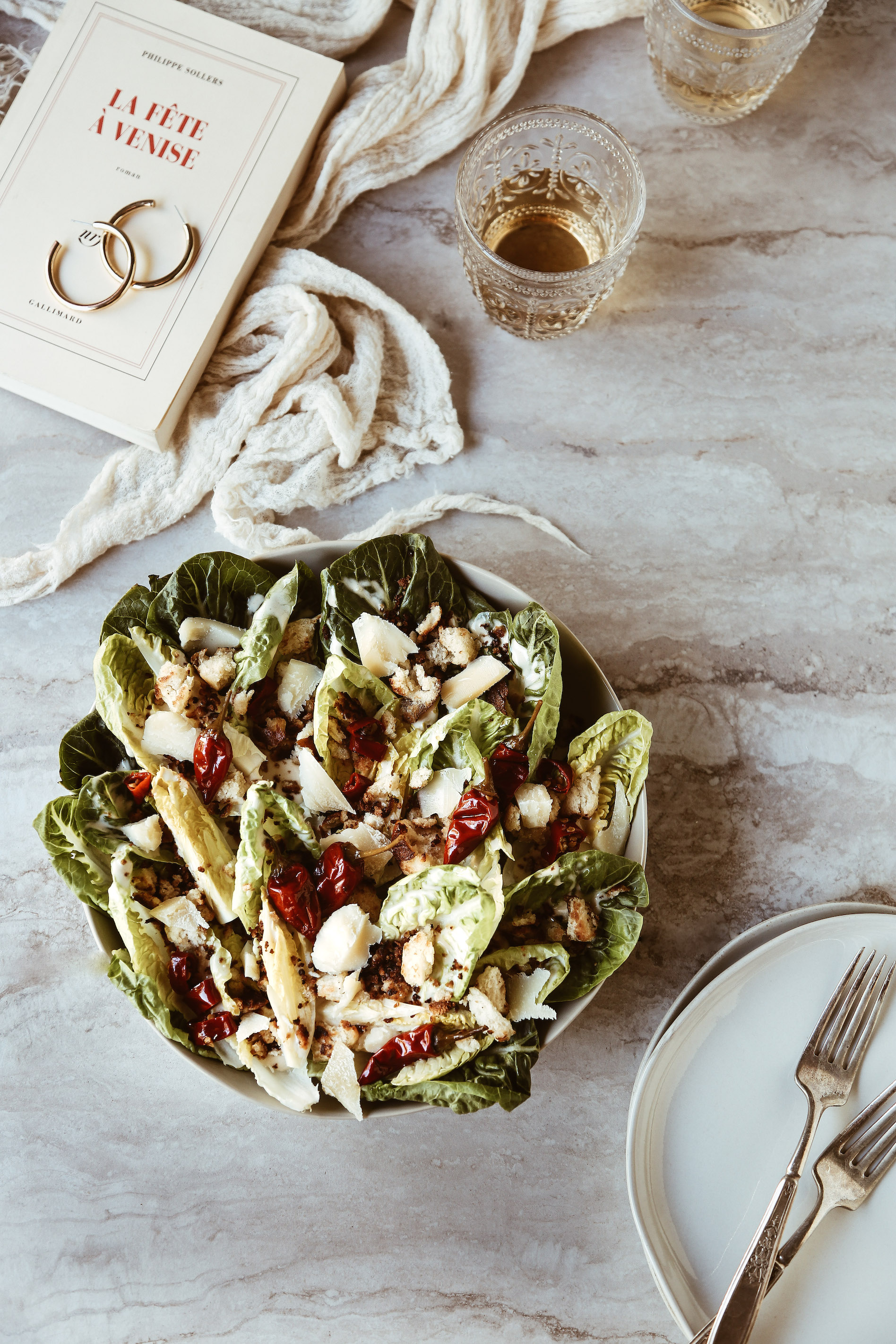 Little Gem Caesar Salad with Calabrian Chili Dressing + Pretzel Croutons-9.jpg