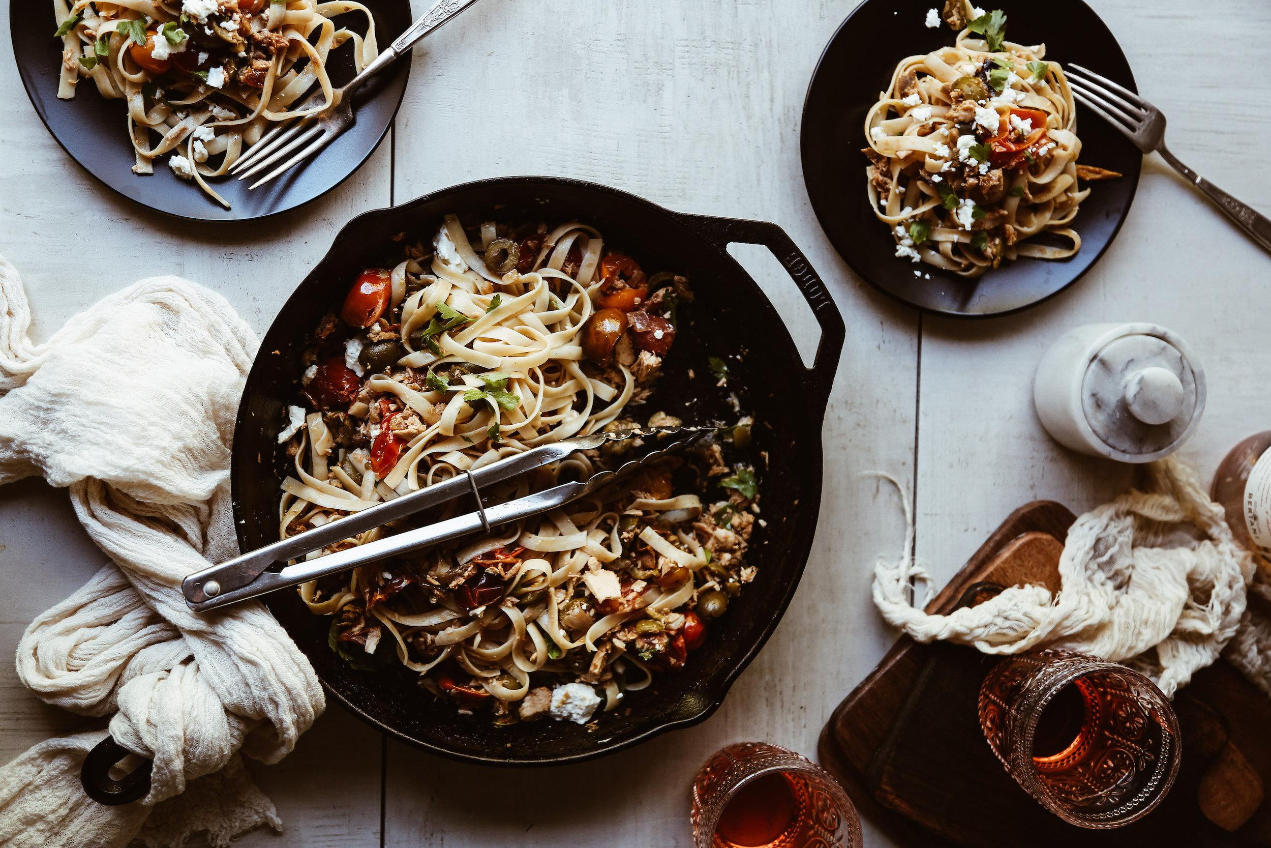 Mediterranean Tuna Pasta - serves 4-6