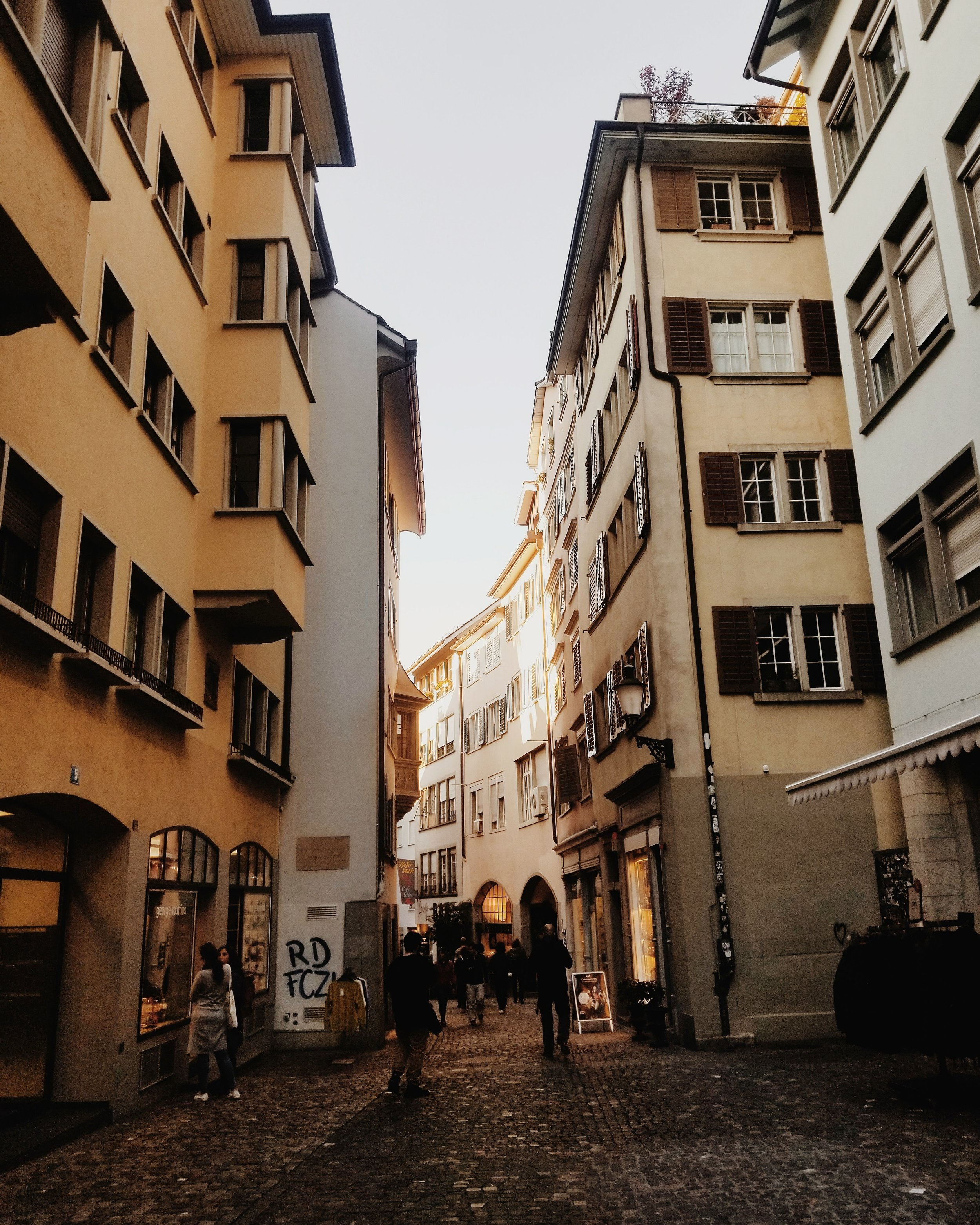 HIstoric district of zurich - Lots of little shops and restaurants!