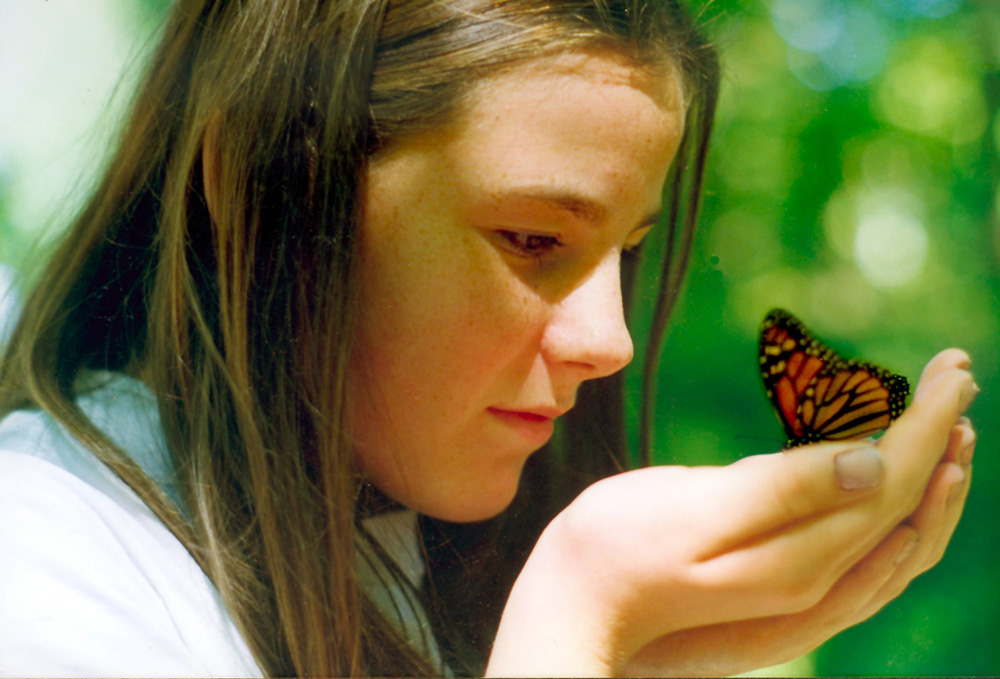 Natalie with Monarch Butterfly