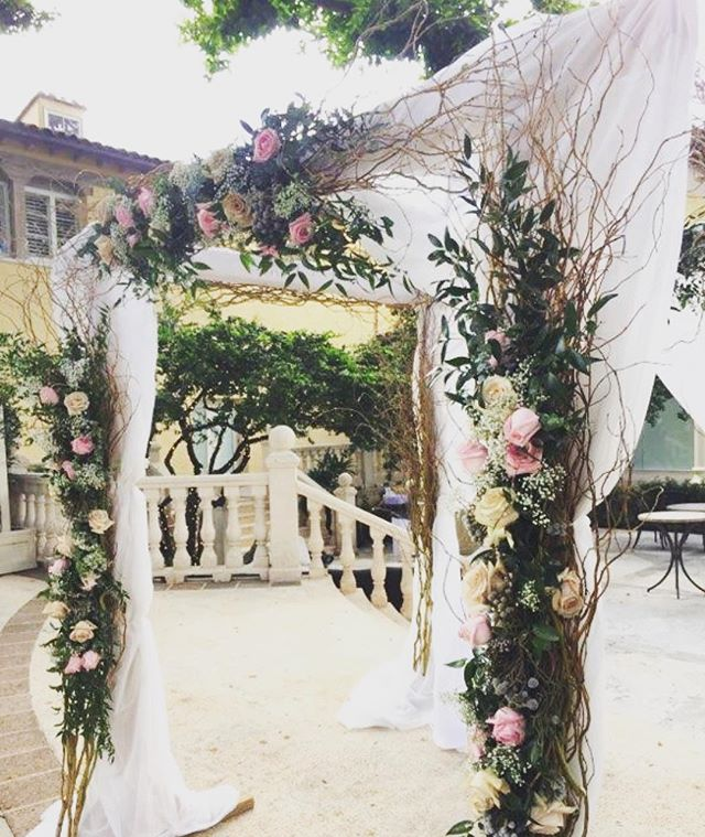 Loving our curly Willow arch from our wedding last weekend at the Addison!