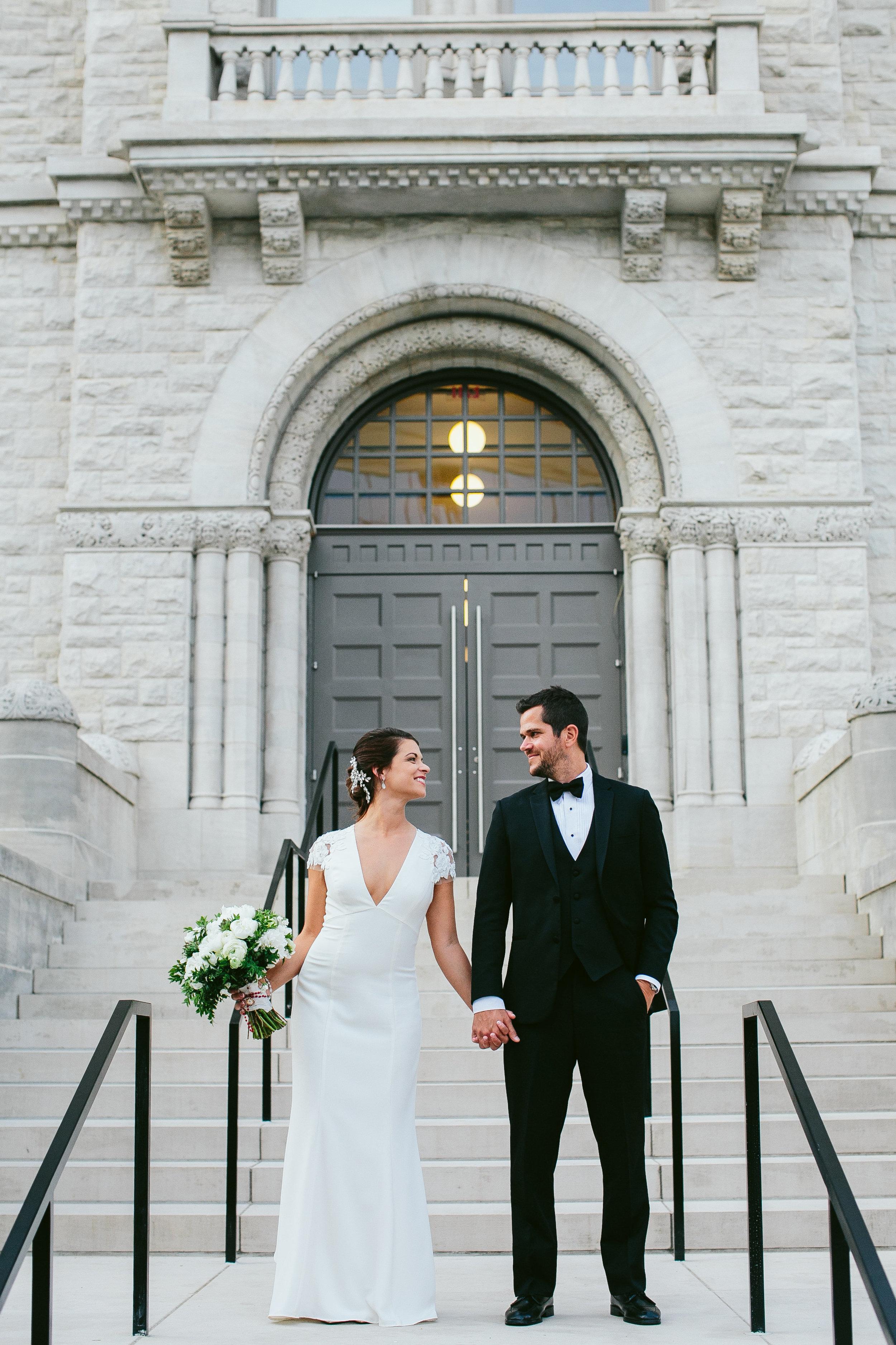 Bride and Groom limestone hall