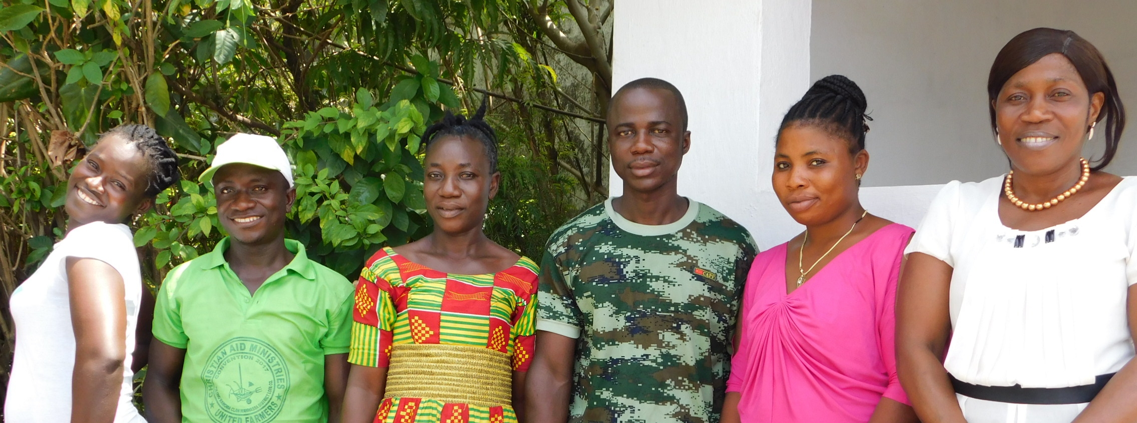 EDC's Advancing Youth Learners participants (Fofee is second from left)