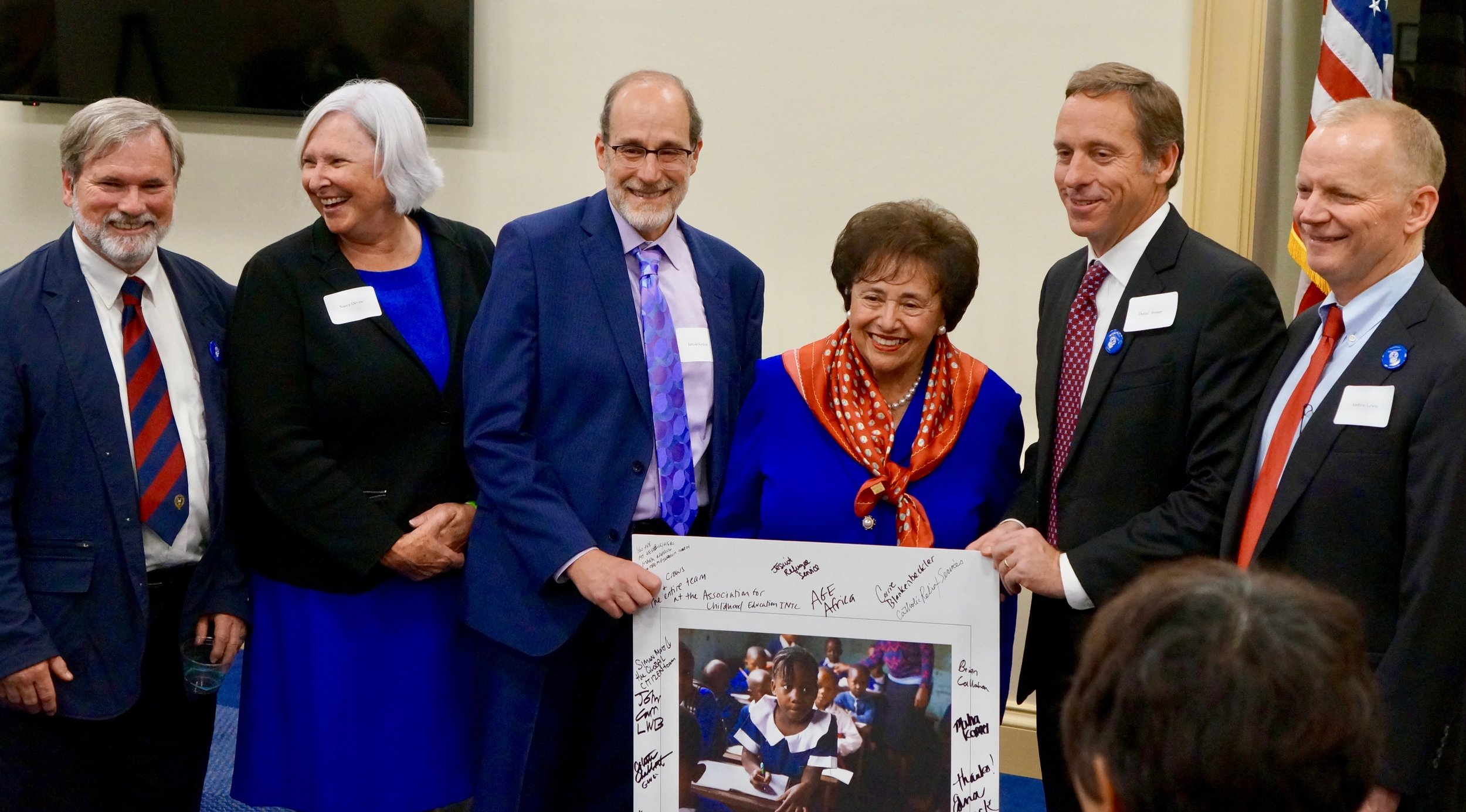 BEC Board Members thanking Nita Lowey