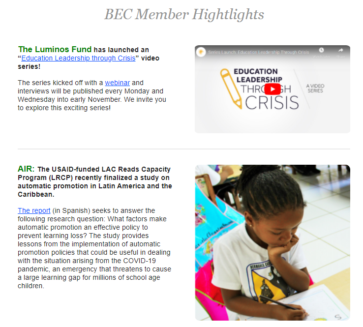 A Collection Of The Latest International Education News From Around The Web Basic Education Coalition