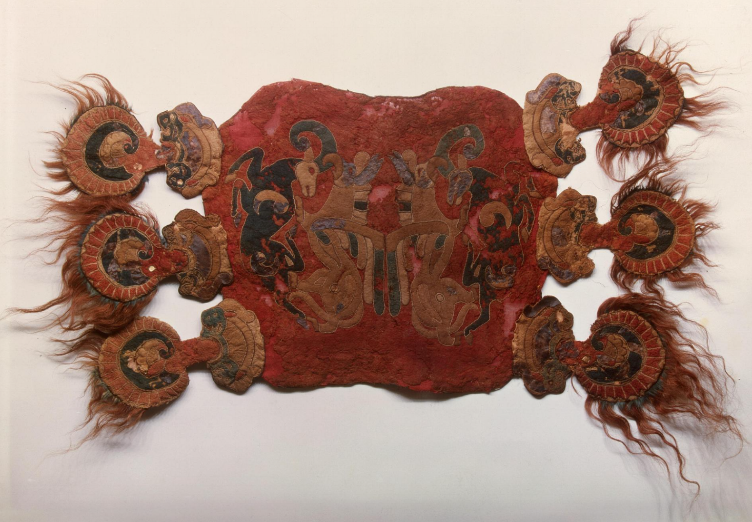 Saddle cover, Southern Siberia, collection of State Hermitage Museum, St Petersburg, Russia