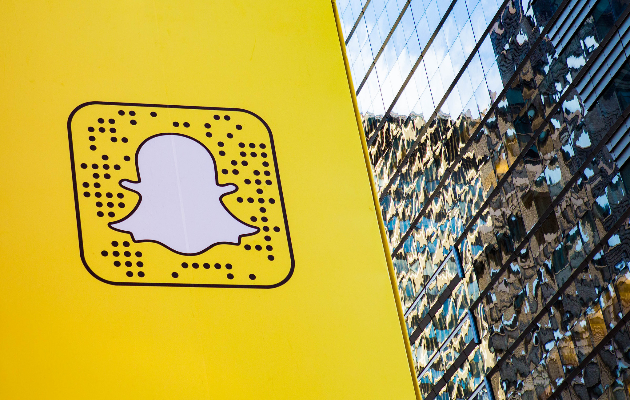A snap code in Times Square this spring - photo courtesy of  Anthony Quintano