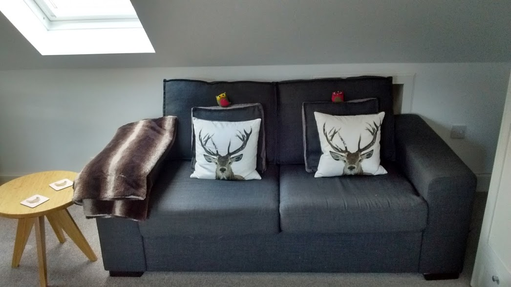 The 2nd sofa. Almost as cosy as the 1st ...