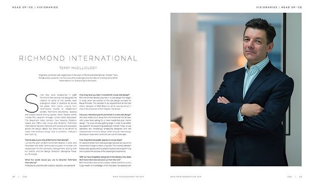 Thank you dearly @theofficialcanfaik for the lovely feature on @rixossaadiyatisland and and Visionaries interview with Terry McGillicuddy, Director at @richmondhospitalitydesign in the latest issue of @hotelspacemag - great inclusions as always.