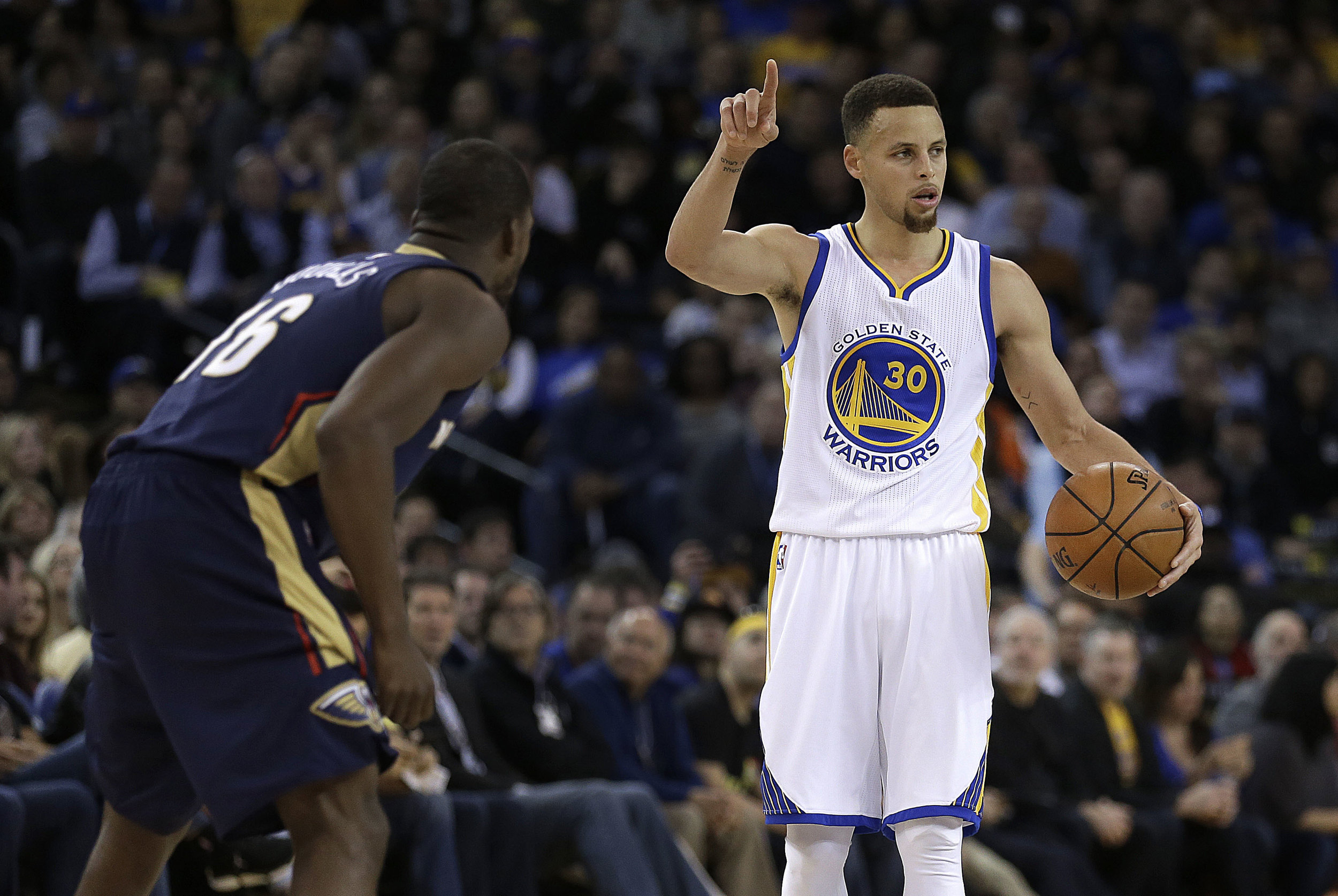 Stephen Curry, basketball player for the Golden State Warriors and apparent ISIS member. (Photo courtesy of AP.)