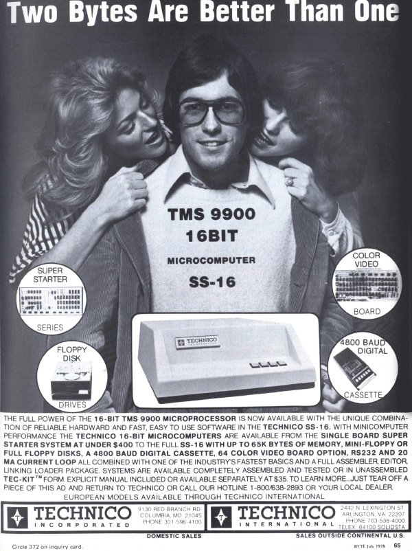 This ad from the 70s portrays owning a minicomputer as sexually appealing.