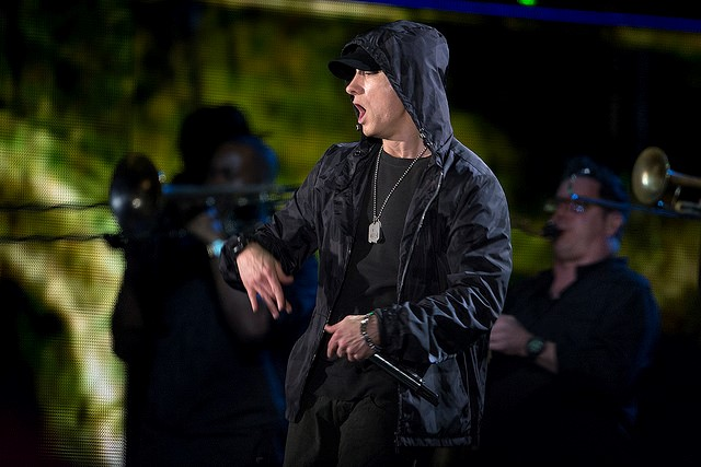 Eminem has often been accused of cultural appropriation. Photograph courtesy of DoD News, via Flickr