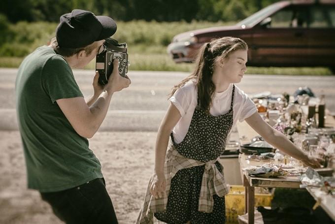 A shot of Lauren in the film,  O, Brazen Age