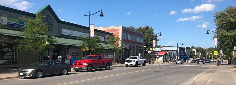 For a county with a small population, Haliburton has 4 municipalities that have their own downtown hubs. Pictured is Highland Street, the main tourist point within Haliburton County that harbours many businesses and eating venues for their area. / VANESSA BALINTEC