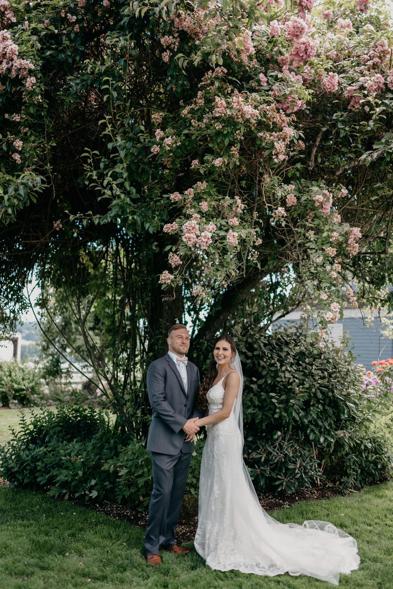 73-lake-oswego-wedding-portland-couple-rose-tree.jpg