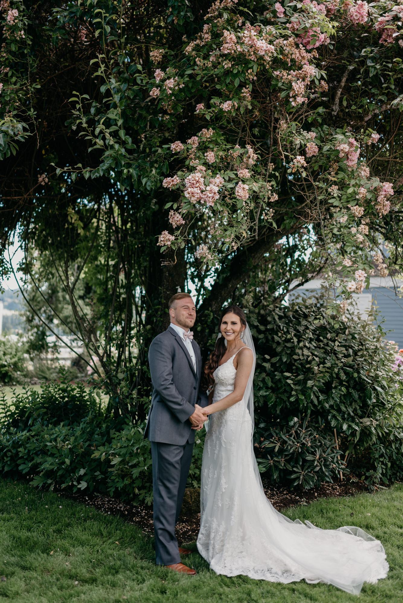 74-lake-oswego-wedding-portland-couple-rose-tree.jpg