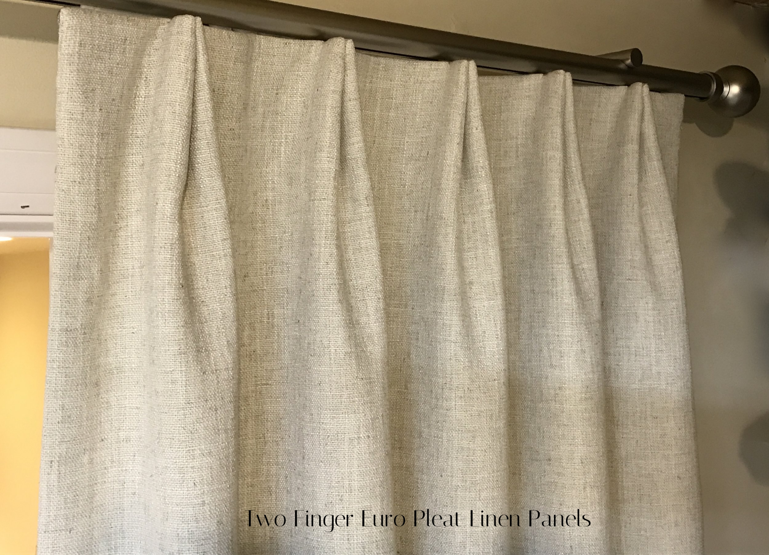linen drapery-custom window-massachusetts-pleated panel