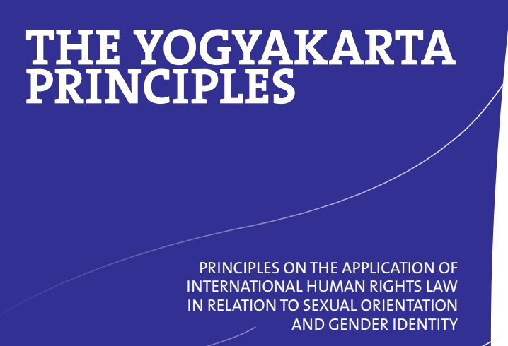 The Yogyakarta Principles were originally produced in a meeting in Indonesia and were published in 2007.