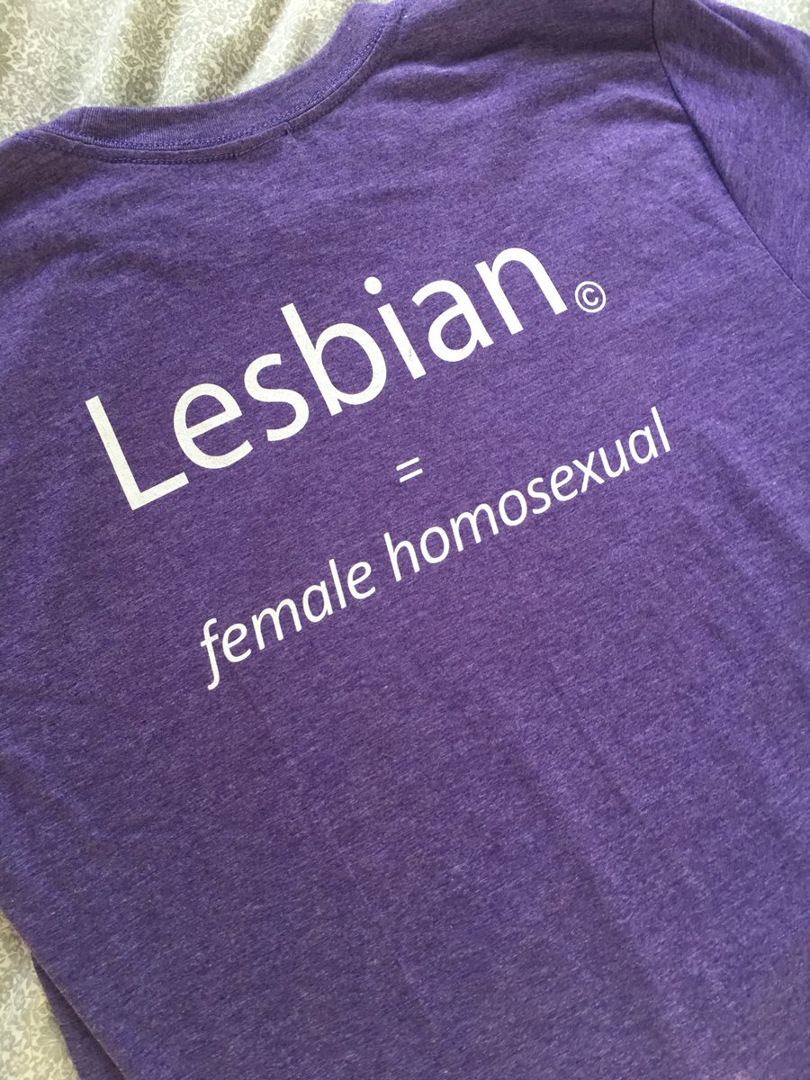 "The back of the Stormé DeLaverie tribute T-shirts reads, ""Lesbian = Female Homosexual."""