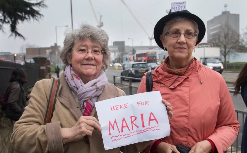 OBJECT supported Maria in court: Tara Wood, the man who assaulted her, was found guilty and convicted. Photo from  The Telegraph.
