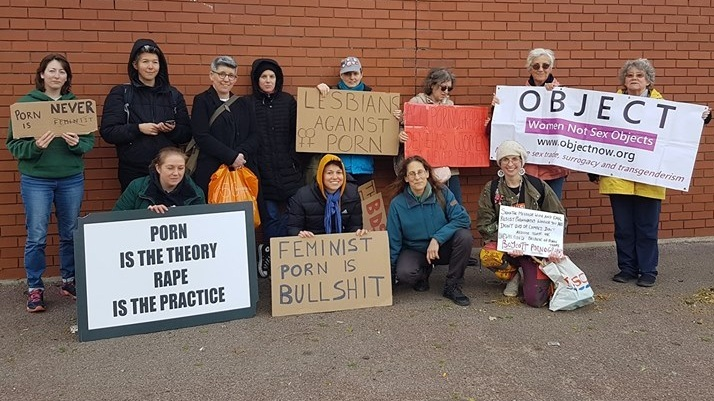 OBJECT protested against the 'London Porn Film Festival' which took place on 27th April 2019.
