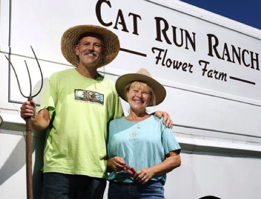 Mark and Karen McVay, Owners of Cat Run Ranch and SendHomeGrownFlowers.com
