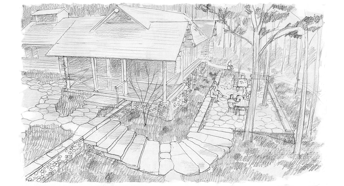 Wisconsin Garden   |   Drawing by Jem Hanbury for TSS Ltd