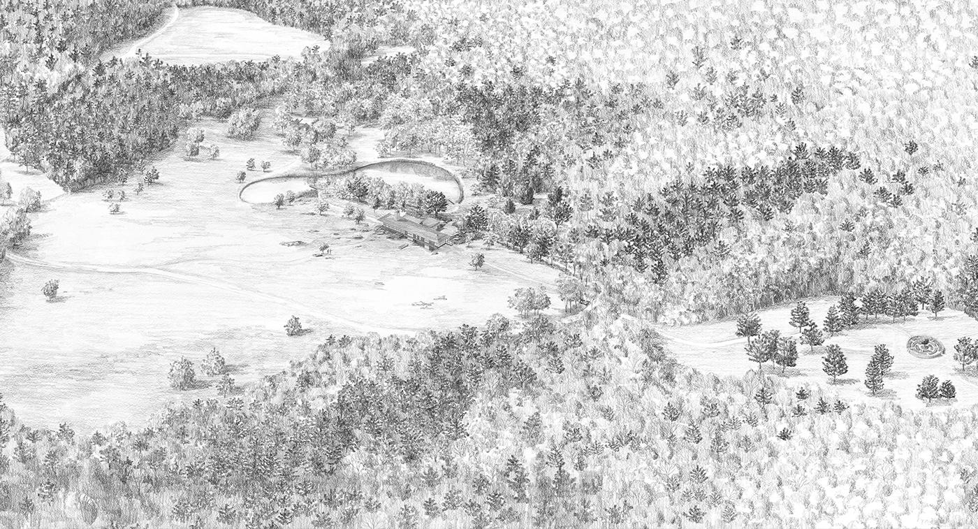 Massachusetts   |   Drawing by Tom Stuart-Smith